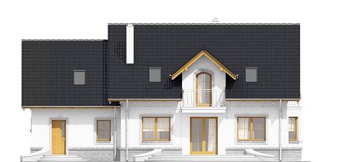 Dom Dla Ciebie 1 z garażem 2-st. A1 - Elewacja tylna