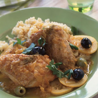 Moroccan Chicken with Olives.