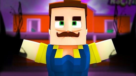 Hello neighbor for Minecraft Mod - náhled