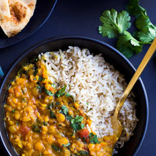 One Pot Spinach Dal.