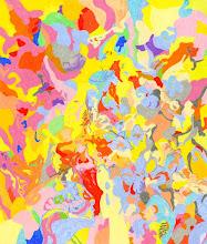 """Photo: Тадеуш Жаховский """"Цветы И Радуга. Flowers And A Rainbow"""" Title:Flowers And A Rainbow /Цветы И Радуга Artist:Tadeush Zhakhovskyy / Тадеуш Жаховский Medium: Painting. mixed techique on cardboard, смешанная техника, дизайнерский картон. 61 cm x 50 cm / 24 in x 20 in.  О наличии картины просьба контактировать галерею.Также предлагается напечатанная на холсте репродукция этой картины в любом размере."""