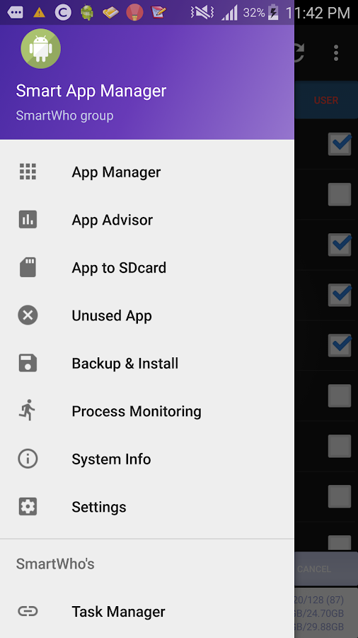 Smart App Manager- screenshot