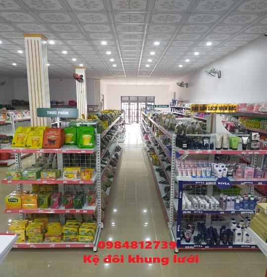 mua bán kệ siêu thị