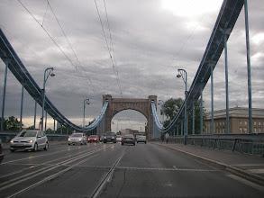 Photo: i przez most Grunwaldzki na koniec wycieczki.