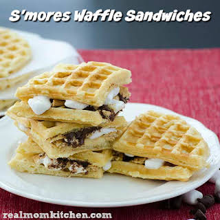 S'mores Waffle Sandwiches.