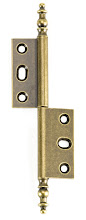 Photo: AHI-BS-LEFT hinge for inset armoire doors in the Bronze Satin finish