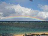 Photo: #191-Arc en ciel sur le lagon devant l'hôtel