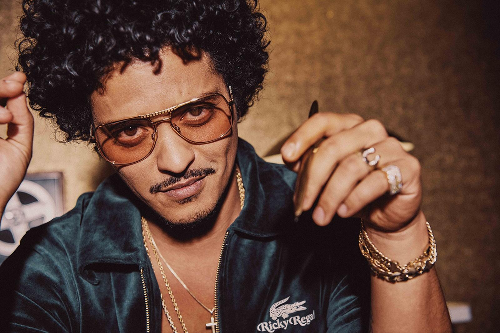 """Bruno Mars Launches New Brand as Designer Alter Ego """"Ricky Regal"""""""