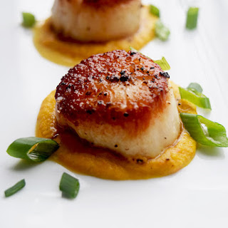Coconut-Carrot Scallops.