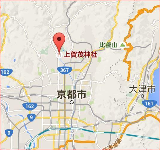地図:上賀茂神社(賀茂別雷神社)