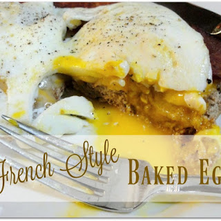 French Style Baked Eggs.