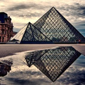 The Louvre by Brandon Rechten - Buildings & Architecture Public & Historical