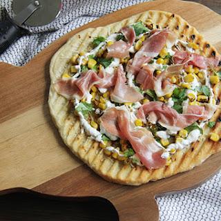 Roasted Corn Pizza #SundaySupper.