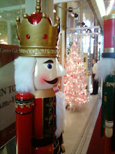 Photo: A large nutcracker guards the entrance to the gift shop.