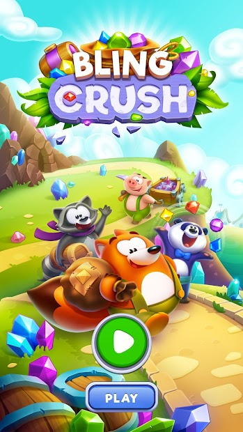 Bling Crush - Free Match 3 Puzzle Game Android App Screenshot