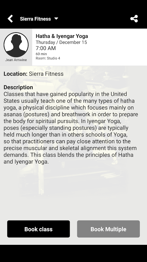 Sierra Fitness- screenshot