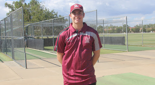 Narrabri cricketer Ryan Meppem sporting his Gordon Cricket Club gear at the Cooma Oval nets. Meppem will travel to England in April to play abroad for the first time. He will then return to Australia to play a second season for the Gordon Cricket Club.
