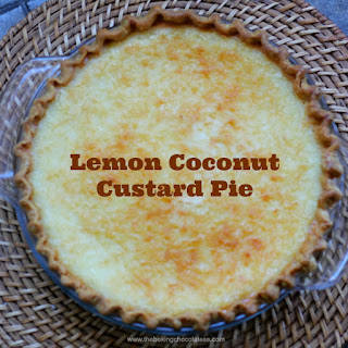 Creamy Lemon Coconut Custard Pie