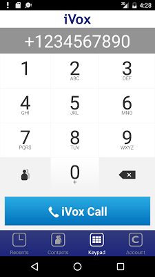 iVox Cheap International Call - screenshot