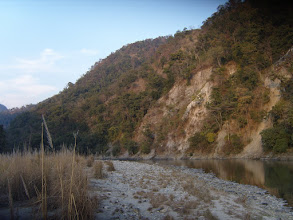 Photo: The Ramganga is a very good fishing river for the famous Mahseer