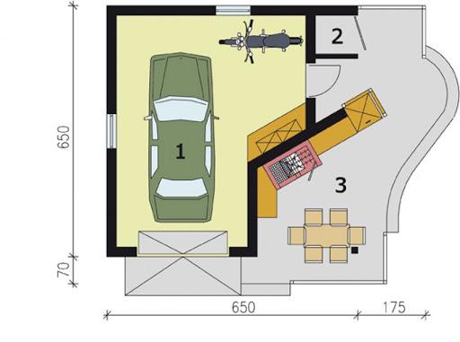 G173 - Rzut garażu