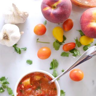 Peach Salsa (Paleo, GF + Refined Sugar-Free)