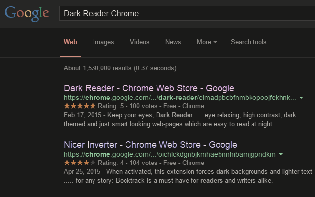 care your eyes invert page colors use dark theme for night and daily browsing