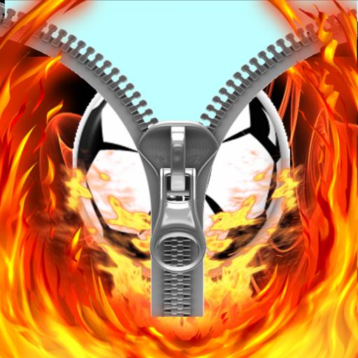 Football cool fire zipper lock