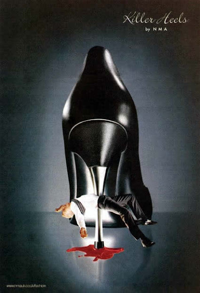 """Photo: Killer Heels by NMA - UK - Banned as it """"trivialised and stylised violence"""""""