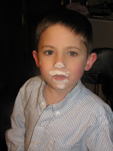 Photo: Reed after playing the flour game