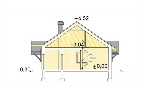 Gienia energo+ wersja C bez garażu strop Teriva - Przekrój