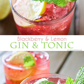 Blackberry & Lemon Gin & Tonic
