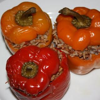 CrockPot Stuffed Peppers.