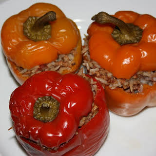 CrockPot Stuffed Peppers.