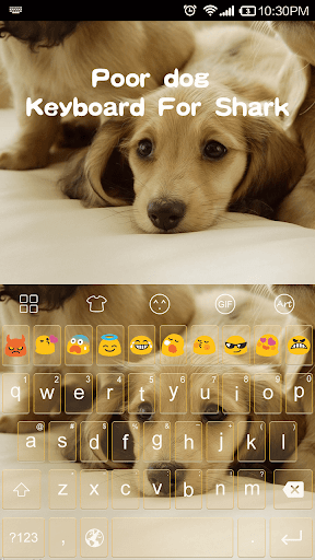 Poor dog Emoji keyboard Theme