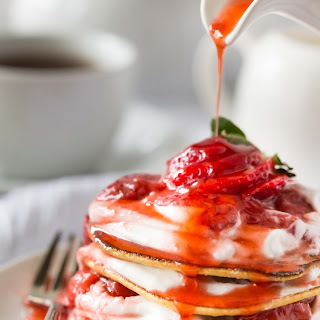 Paleo Crepes with Strawberry Sauce and Coconut Whipped Cream