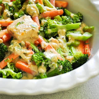 Fish in White Sauce with Vegetables.