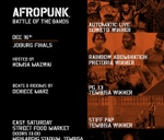 AFROPUNK Battle of the Bands Finals : Mehlareng Stadium