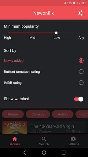 Newonflix - Streaming movie catalogue 1.6.1 screenshots 3