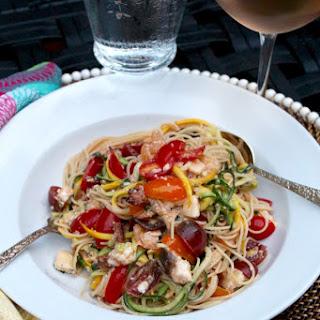 Zoodles & Noodles with Brie, Tomatoes & SautéEd Chanterelles Recipe