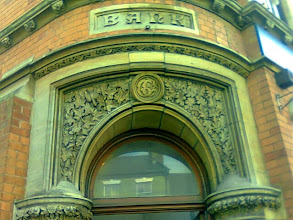 Photo: The lower lintel was about the height of the flood in 1960. Currently a solicitors, the depth of the arch and carving make this a rare piece of Victoriana.