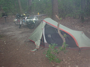 Photo: Our campsite at Greenbelt State Park