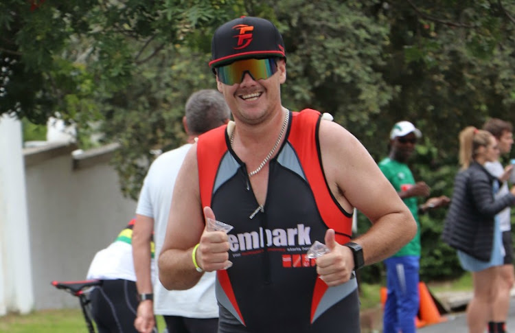 Chad Wakeford during the 2020 Buffalo City Ironman 70.3