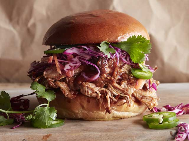 Honey BBQ Pulled Pork Burgers Recipe