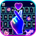 Love Heart Neon Wallpapers Keyboard Background icon