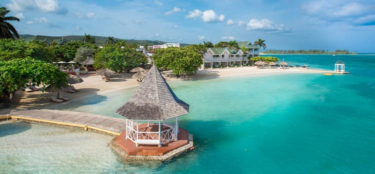 The Sandals Royal Caribbean in Montego Bay.
