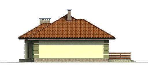 Dom przy Orzechowej - Elewacja prawa