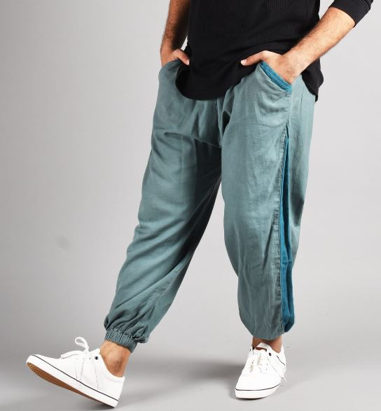Loose blue pants