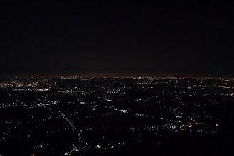 Photo: 関東平野はやっぱり広い! スカイツリーらしき棒も見えました。