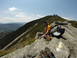 Photo: On the arete of Whiteface. Photo by Loren Swears.